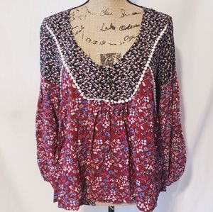 Umgee | Gypsy Style Floral Blouse